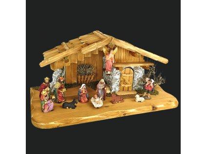 Dřevěný betlém BEZ FIGUREK 50 cm