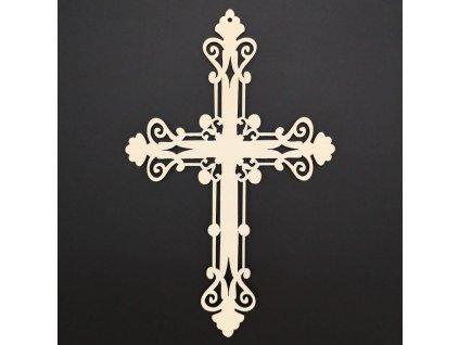 Dřevěný kříž 25 cm