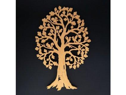 Dřevěný strom s veverkami, masivní dřevo, výška 40 cm