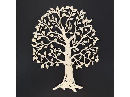 Dřevěná strom, přírodní závěsná dekorace, výška 23 cm