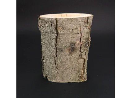 Dřevěný svícen kůrový kmen