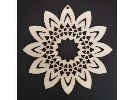 Dřevěná ozdoba slunečnice 10 cm