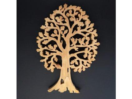 Dřevěný strom s veverkami, masivní dřevo, výška 28 cm