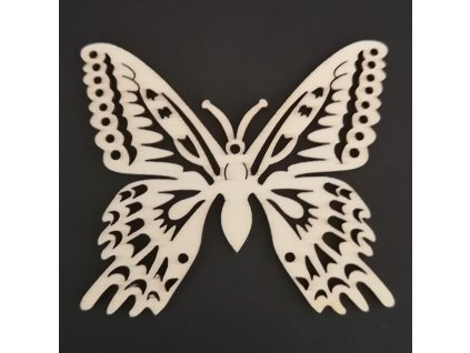 Dřevěná dekorace motýl 6 cm