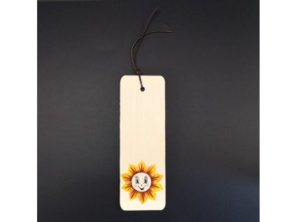 Záložka sluníčko 15 cm