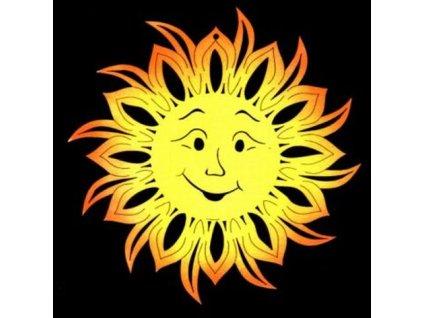 Dřevěná ozdoba barevná slunce 9 cm