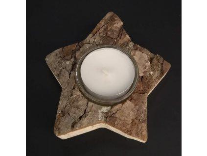 Dřevěný svícen - hvězda
