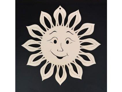 Dřevěná ozdoba slunce 20 cm