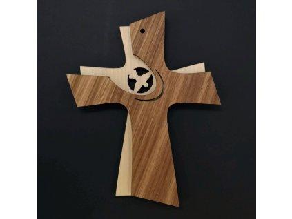 Dřevěný kříž skládaný 16 cm