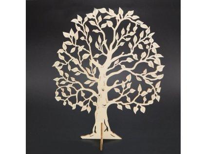 Dřevěný 3D strom, přírodní, výška 23 cm