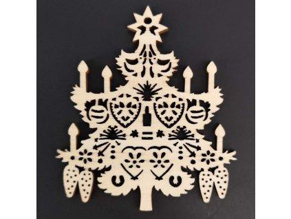 Dřevěná ozdoba vánoční