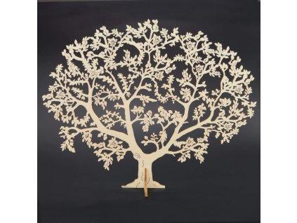 Dřevěný 3D strom, přírodní, 24 cm