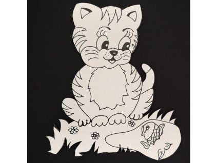 Magnet k domalování kočka 20 cm