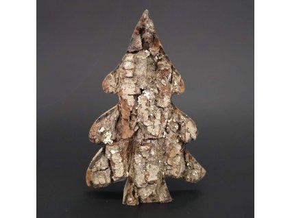 Dřevěný strom s kůrou, masivní dřevo, výška 11 cm