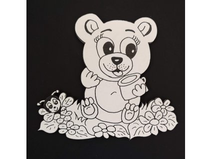 Magnet k domalování medvěd 10 cm