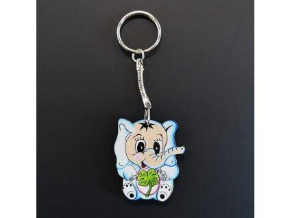 Klíčenka slon 4 cm
