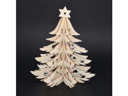 Dřevěný 3D stromek, výška 15 cm