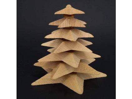 Dřevěný 3D strom skládaný z masivního dřeva 8 cm