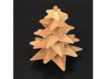 Dřevěný 3D strom z masivu skládaný 9 cm