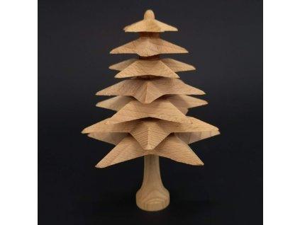 Dřevěný 3D strom z masivu skládaný 12 cm
