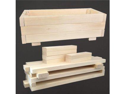 Dřevěné koryto rozložené