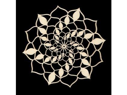 Dřevěná dekorace  mandala