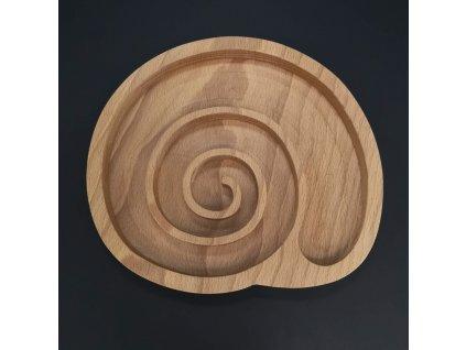 Dřevěná miska ve tvaru ulity