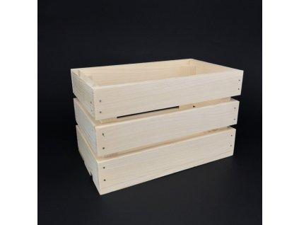 Dřevěná bedýnka z masivního dřeva