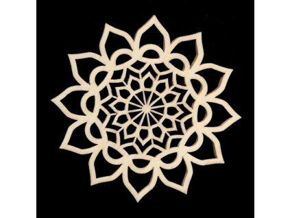39484 mandala c 3 kvetinovy motiv 9cm