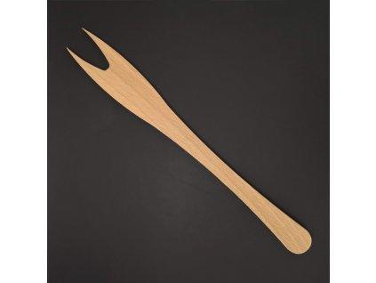 Dřevěná vidlička, masivní dřevo, délka 25 cm