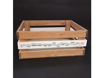 Dřevěná bedýnka z masivního dřeva, 40x30x17 cm