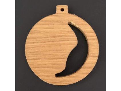 Dřevěná ozdoba z masivu prořezávaná - koule 6 cm