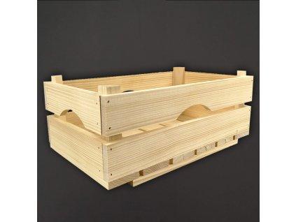 Dřevěná bedýnka z masivního dřeva, 34x20x14 cm