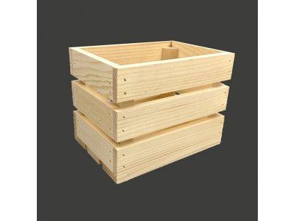 Dřevěná bedýnka z masivního dřeva, 20x15x14 cm