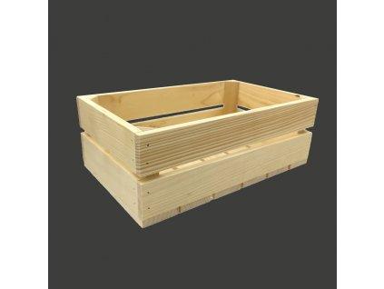 Dřevěná bedýnka z masivního dřeva, 34x21x12 cm