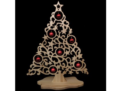 dřevěný vánoční strom