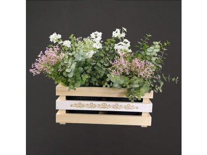 dřevěný obal na květináče
