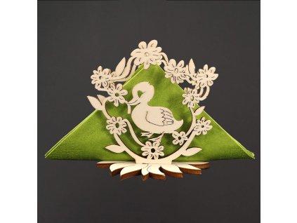dřevěný velikonoční stojánek na ubrousky
