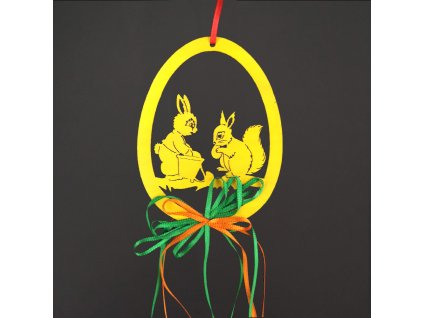dřevěný velikonoční závěs
