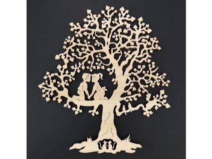 dřevěná dekorace strom