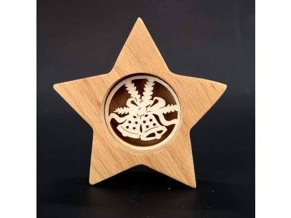 dřevěná dekorace hvězda