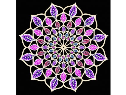 40762 mandala c 11 fialovo ruzova