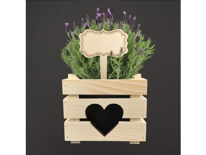dřevěná cedulka na bylinky