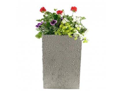 Betonový květináč odlehčený