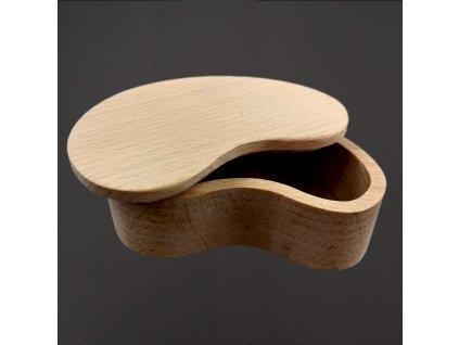 Dřevěná krabička ve tvaru ledviny 10 cm