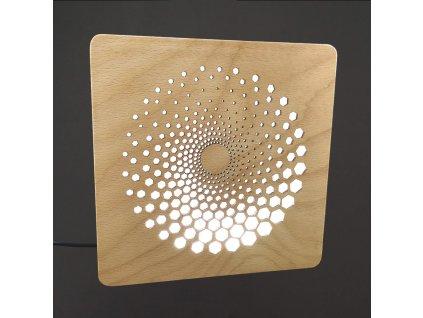 dřevěná lampička