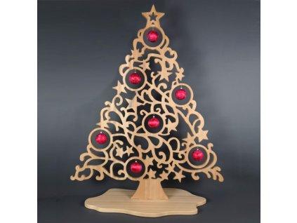 Maxi dekorace vánoční strom s koulemi 127 cm