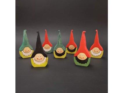 Puzle trpaslík barevný 10 cm - mix barev