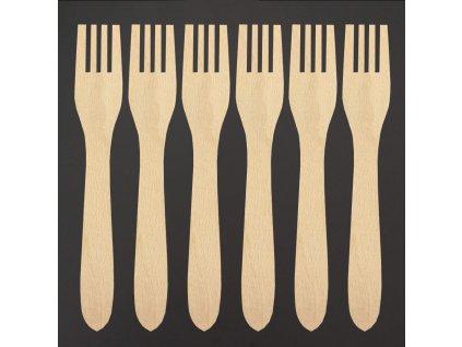 sada dřevěných vidliček