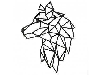 dřevěná dekorace vlk